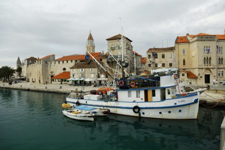 Fishing boat, waterfront, Trogir, Croatia